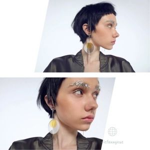 Anthropology Round earrings